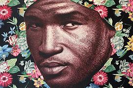 Sebastien Bouchard desert flower huile et acrylique 120 x 120 cm vignette