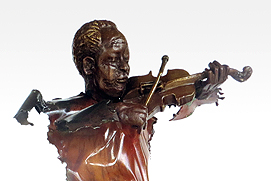 Issa Diop fondeur bronze detail
