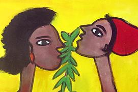 Ibrahima Kébé cérémonie de mariage acrylique sur toile 200 x 300 cm sénégal vignette