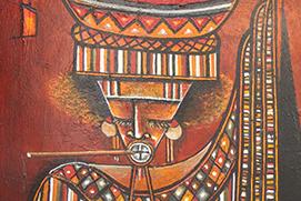 Bara Ndaw Porteuse de lait acrylique technique mixte sur toile artiste peintre senegal vignette