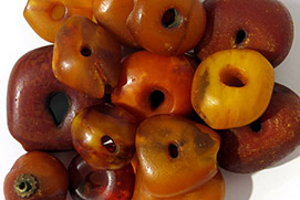 Perles d'ambre du mali amber bead beads vignette